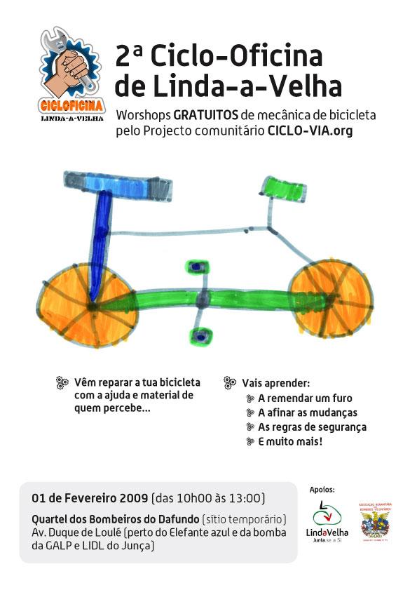 Cartaz da segunda ciclo-via de Linda-a-Velha