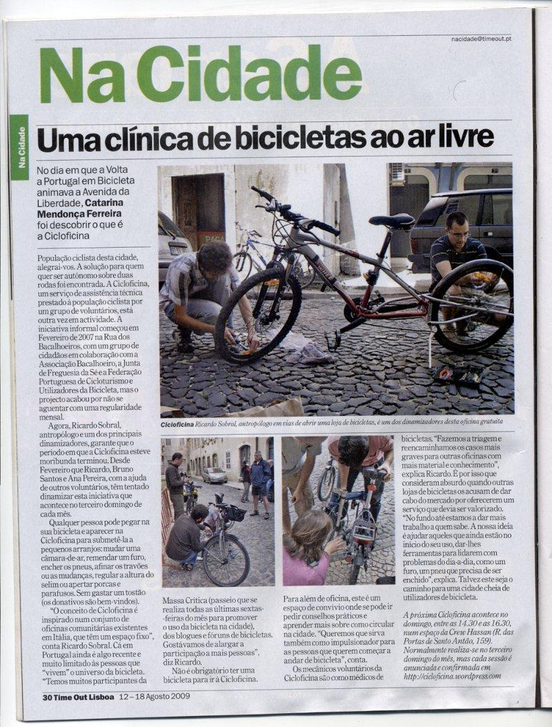 Cicloficina na TimeOut Lisboa