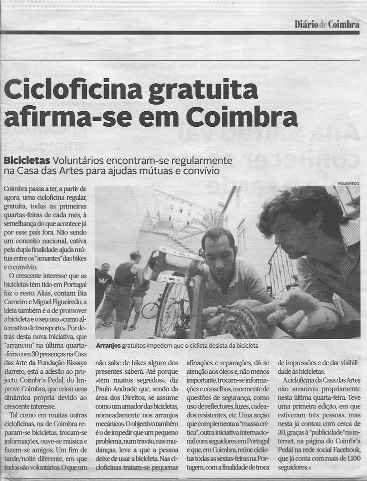 Diário de Coimbra, 08 de setembro, 2014.